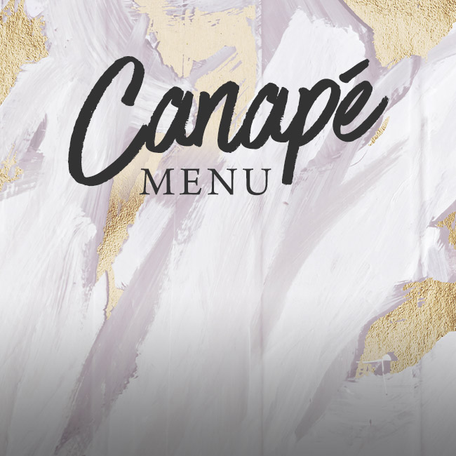 Canapé menu at The Corner House