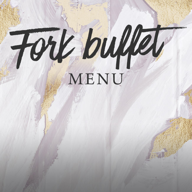 Fork buffet menu at The Corner House