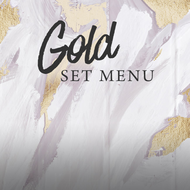 Gold set menu at The Corner House