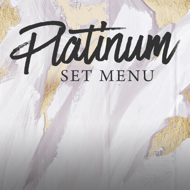 Platinum set menu at The Corner House