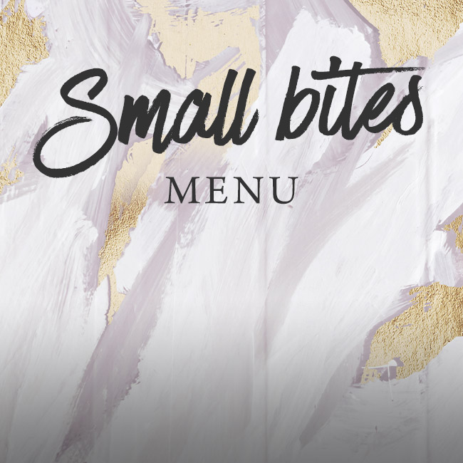 Small Bites menu at The Corner House