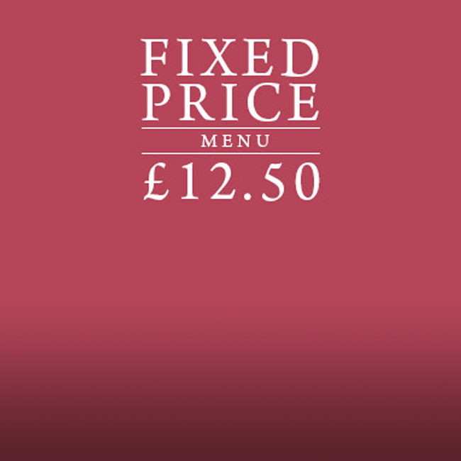 Fixed Price Menu at The Corner House