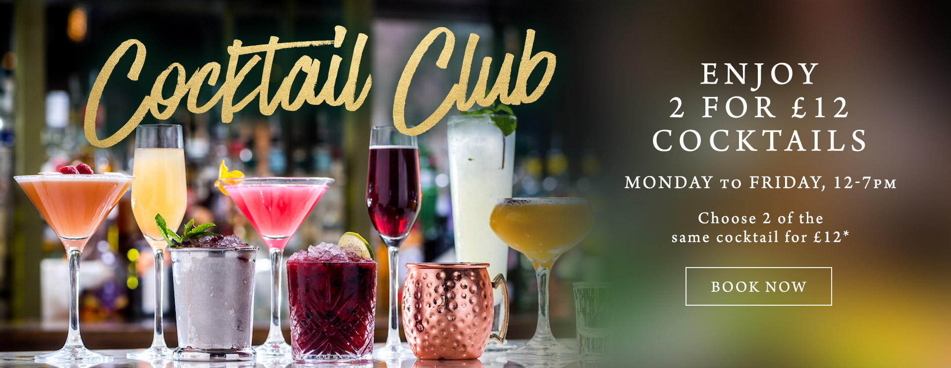 2 for £12 cocktails at The Corner House