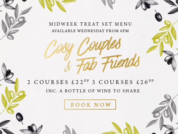 Midweek treat at The Corner House - Book now